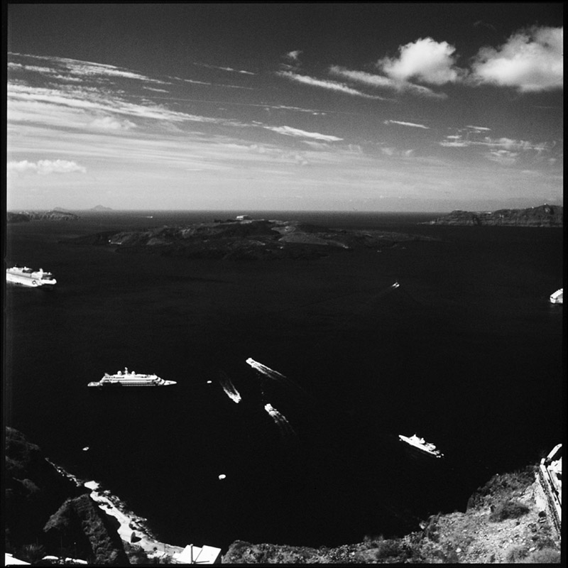 Griechenland 2009 * Santorini, Caldera * Hasselblad 500c/m * Rossi Photography * Reisereportage