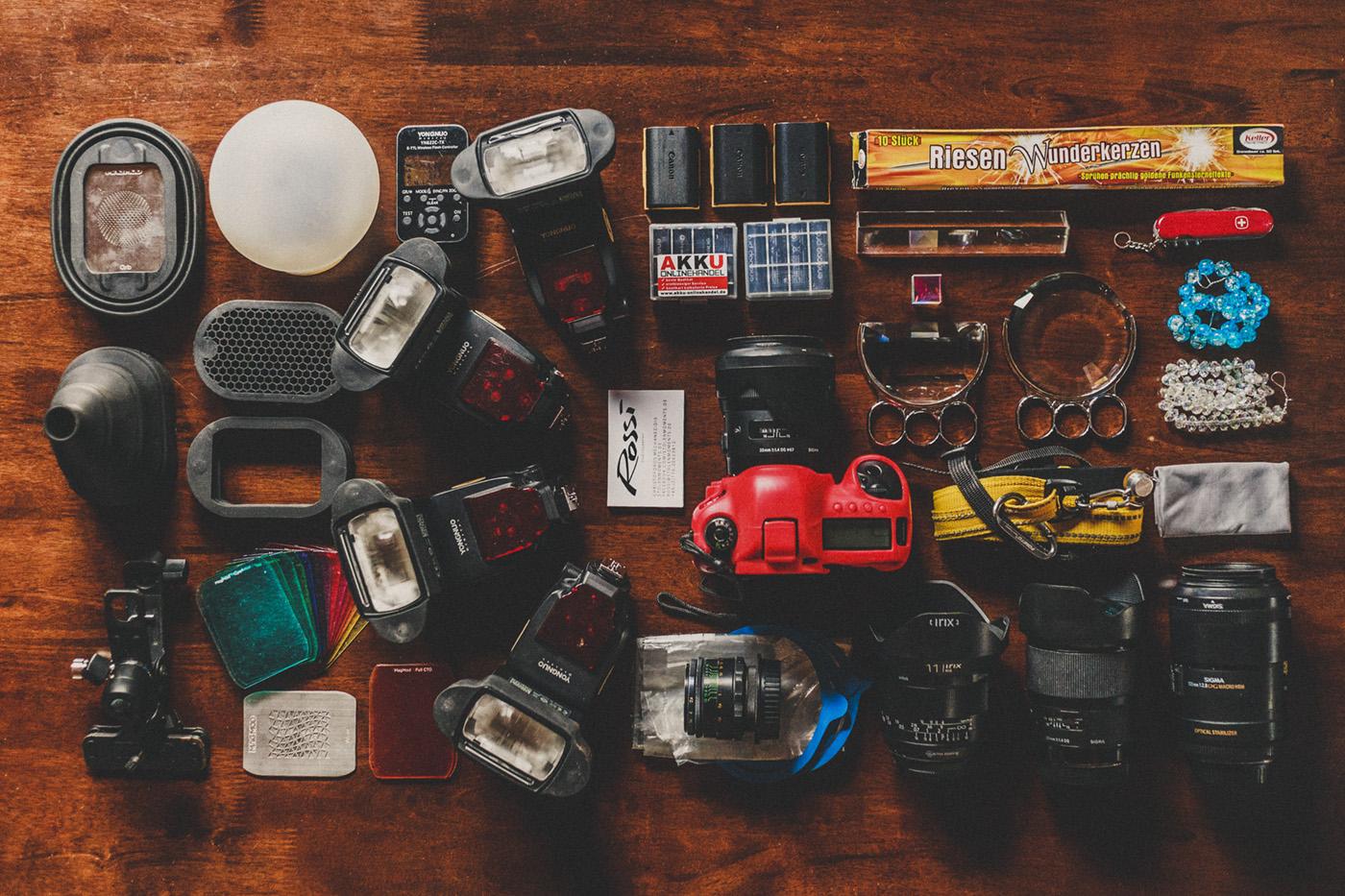What´s in my bag * Rossi Photography * Hochzeitsfotograf für Gießen, Hessen, deutschlandweit