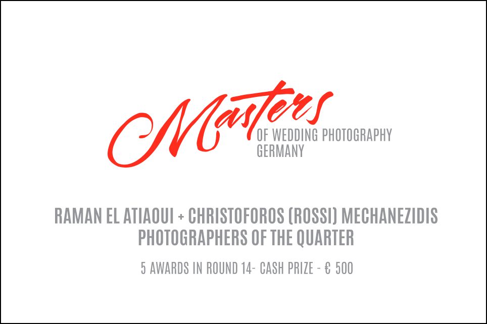 Zum zweiten mal in Folge Rundensieger bei den Masters of German Wedding Photography * Ausgezeichnete Hochzeitsfotografie