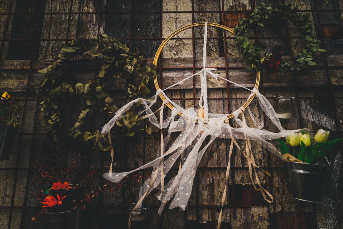 boho-dekoration auf einer hochzeit in den waggonhallen, hochzeitslocation marburg