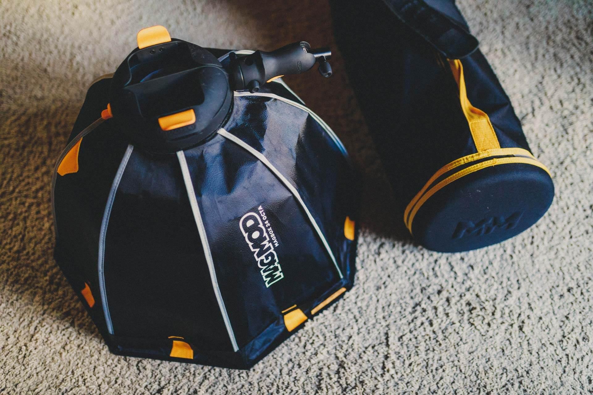 die magbox, eine wirlich erstklassige mobile softbox - was ist in meiner fototasche, what´s in my bag