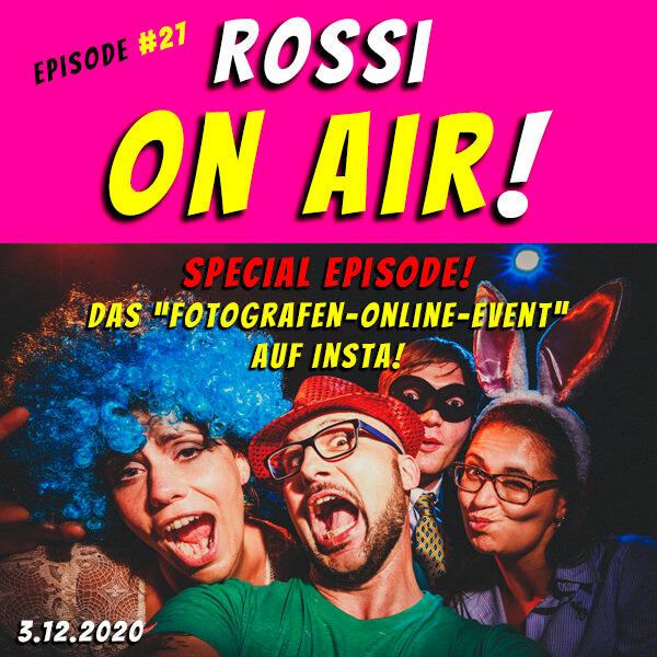 """Rossi on air! - Der Hochzeitsfotografie-Podcast! - Live und unzensiert! - Episode 27 - Special Promotion Episode mit Sven Herbst! - Promoting """"Fotografen-Online-Event"""" auf Instagram! :)"""